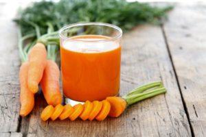Морковный сок в меню диеты