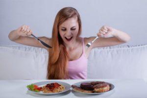 девушка снижает аппетит