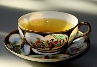 имбирь с зеленым чаем