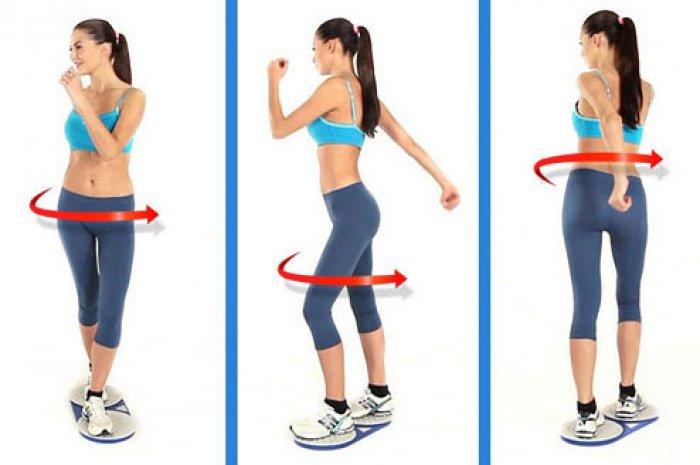 Упражнения на диске здоровья для похудения в домашних условиях